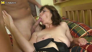 Hairy mom fucking her son's best collaborate