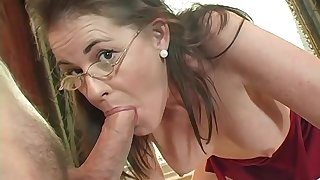 Mommy gets wise when it comes to cock