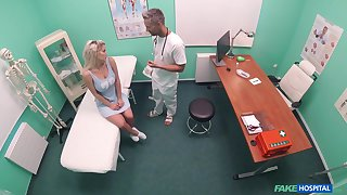 Horny doctor decides to fuck his patient Sienna Boyfriend on the table