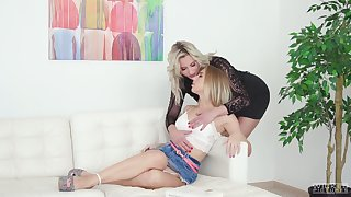 Wondrous sexy and hot Kira Thorn has lured charming lesbo for awesome sex