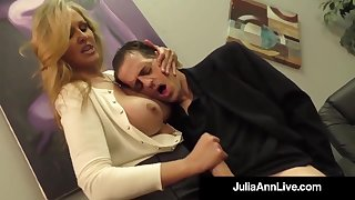 Julia Ann is a screwing blondie female, who loves to choose boners and give excuses them herd parts
