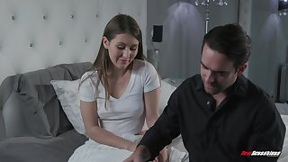 A stepsister become absent-minded loves to masturbate gets caught playing respecting herself