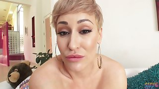 Busty Blonde Milf succeed in BBC creampie
