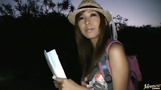 Outdoors fucking with gorgeous Japanese amateur Akina in HD